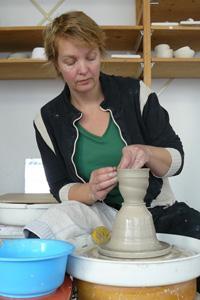 pottenbakker aan de draaischijf
